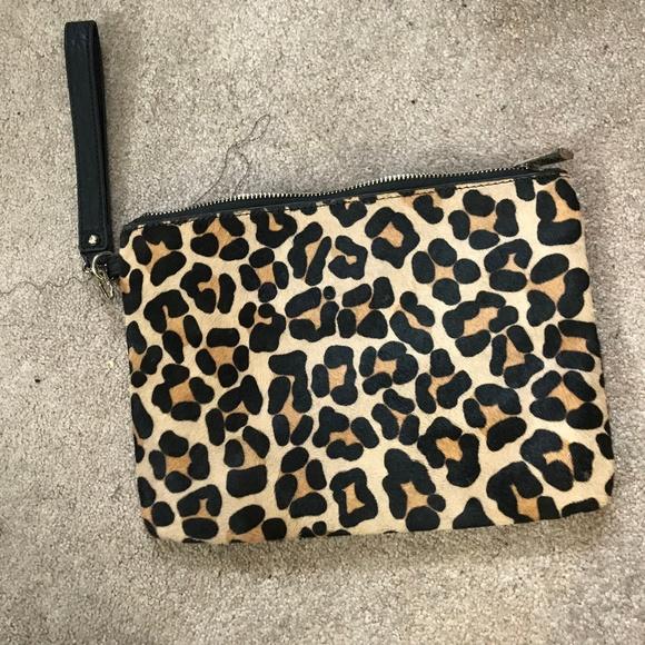 Express Handbags - Express Cheetah Print Clutch